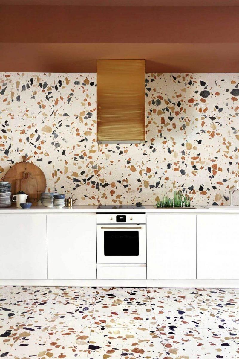 Яркий терраццо добавит красок Вашей кухне.