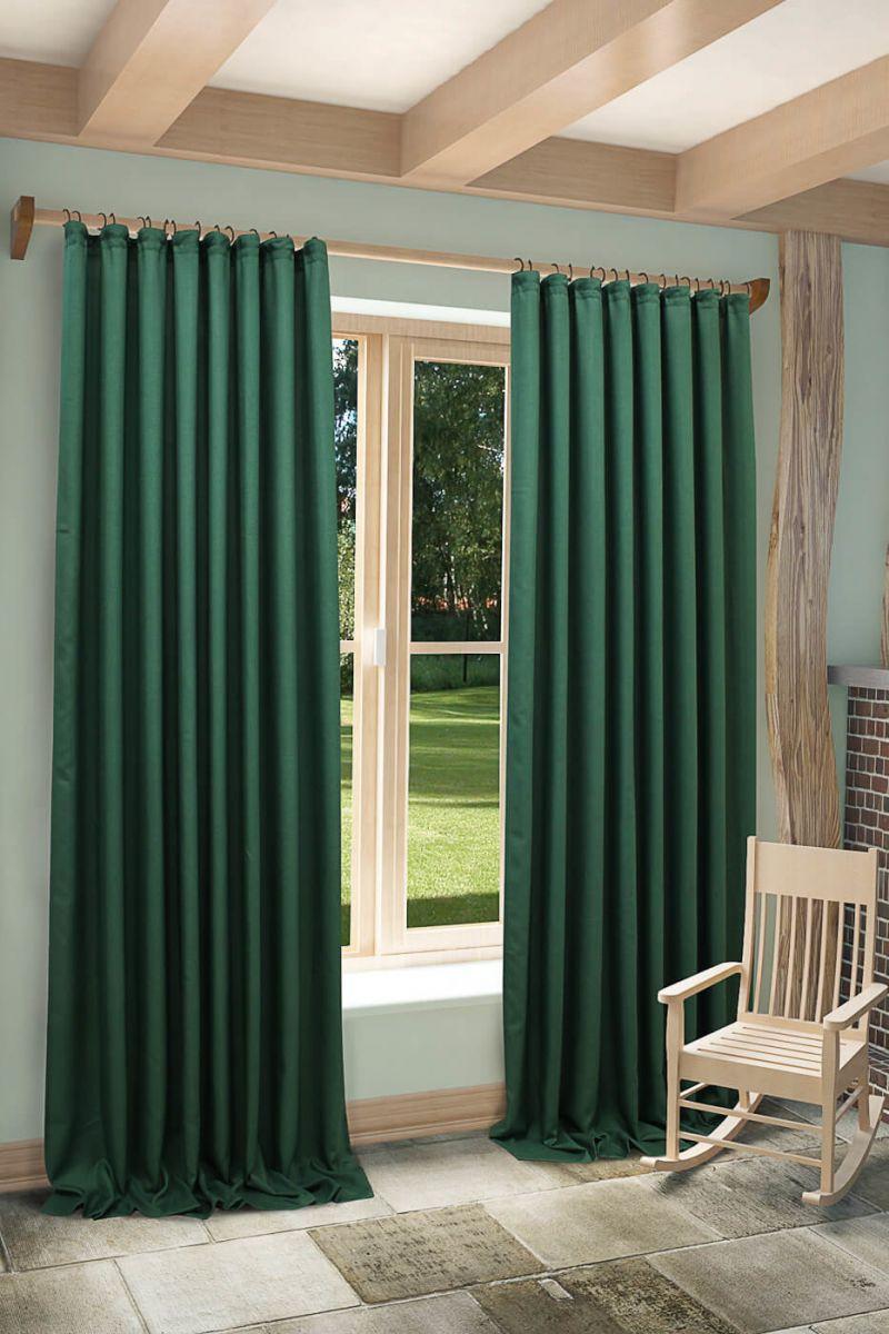Элегантным дополнением к общей концепции дизайна станут классические тяжелые шторы в цвете Night Watch.