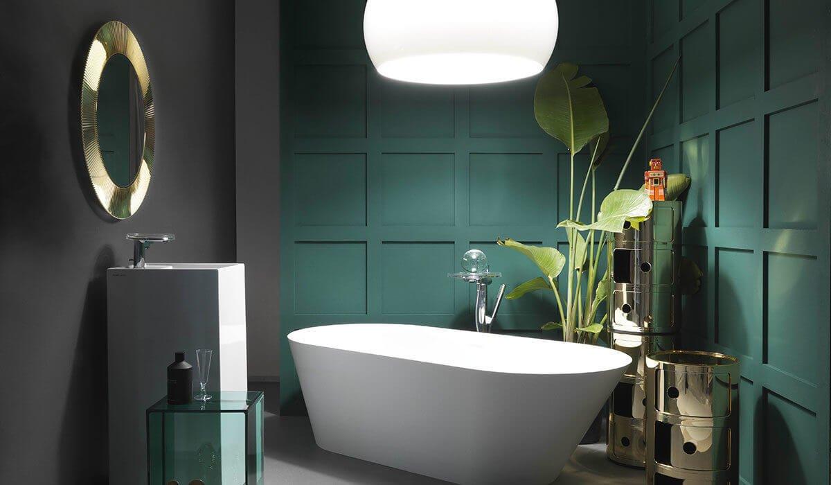 Ванная комната в цвете Night Watch соткана из покоя, возвышенной эстетики и безусловного стиля.