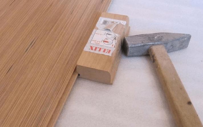 Скрепление ламинатных рядов