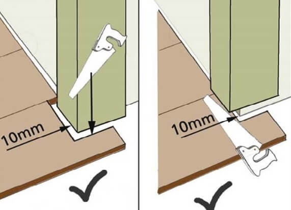 Монтаж ламината возле двери