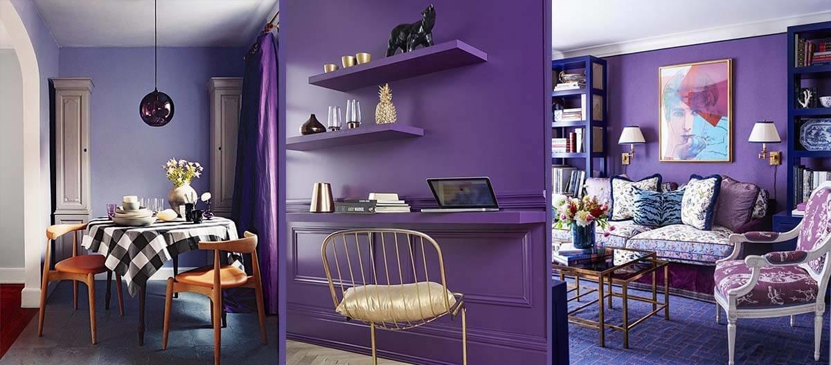 Интерьер в цветовом разрешении Ultra Violet - это непростая задача, но грамотном сочетании он раскроет свою многогранность и глубину.