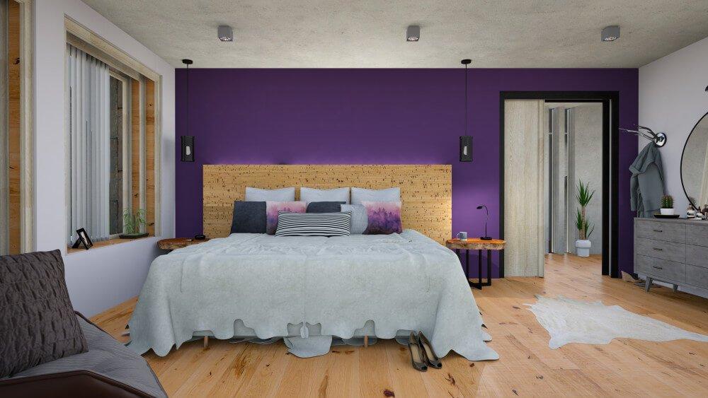 Ultra Violet следует сочетать со спокойной нейтральной гаммой, чтобы создать интересный контраст.
