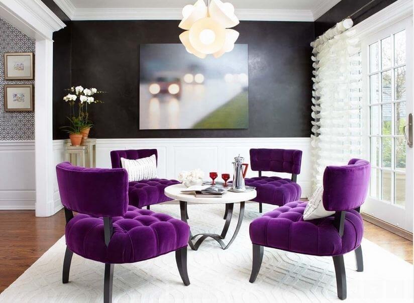 Текстиль и декор в цвете Ultra Violet - это уникальное сочетание текстур, форм и фактур.