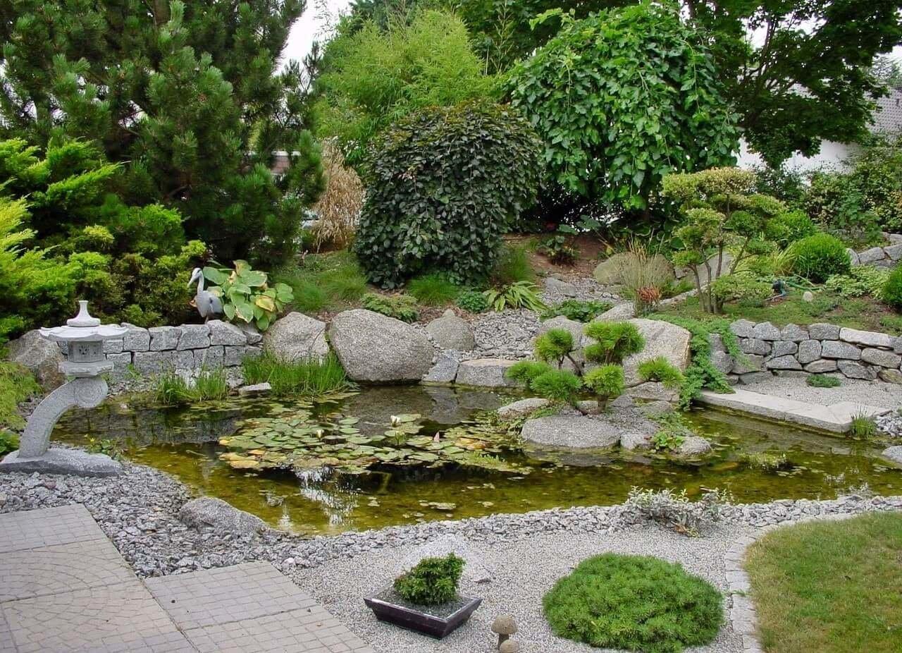 Небольшон озеро в японском саду